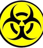 Beautiful Biohazard Symbol Tattoo in Yellow And Black Color