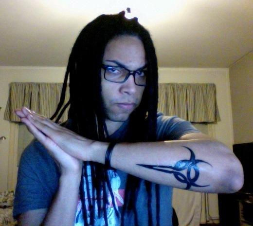 Excellent Picture Of Biohazard Symbol Tattoo