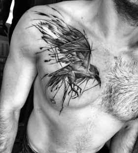 bird-chest-tattoo-by-ineepine