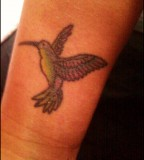 Canary Bird Tattoo On Wrist