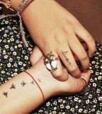 Bird Tattoos Inner Wrist Picture