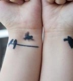 Birds Story Wrist Tattoos Design