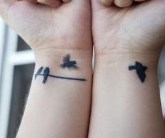 Birds Story Wrist Tattoos Design