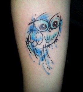 Owl watercolor tattoo