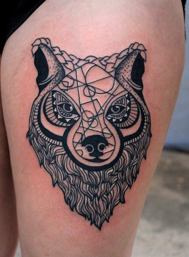 black-and-white-wolf-tattoos