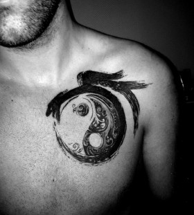 black-and-white-yin-yang-tattoo