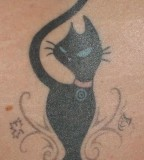 Coquettish Black Cat Tattoo Ideas