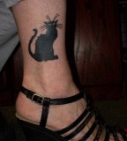 Black Cat Angkle Tattoo Rue By Icequeenblue