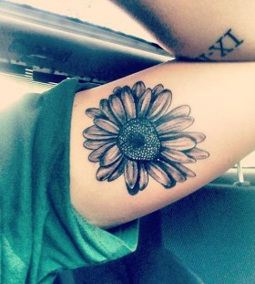 black daisy flower tattoo
