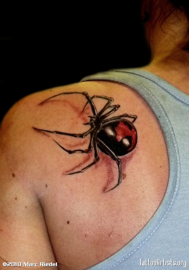 5dd669066 Simple Black Widow Tattoo Artists Design -   TattooMagz › Tattoo ...