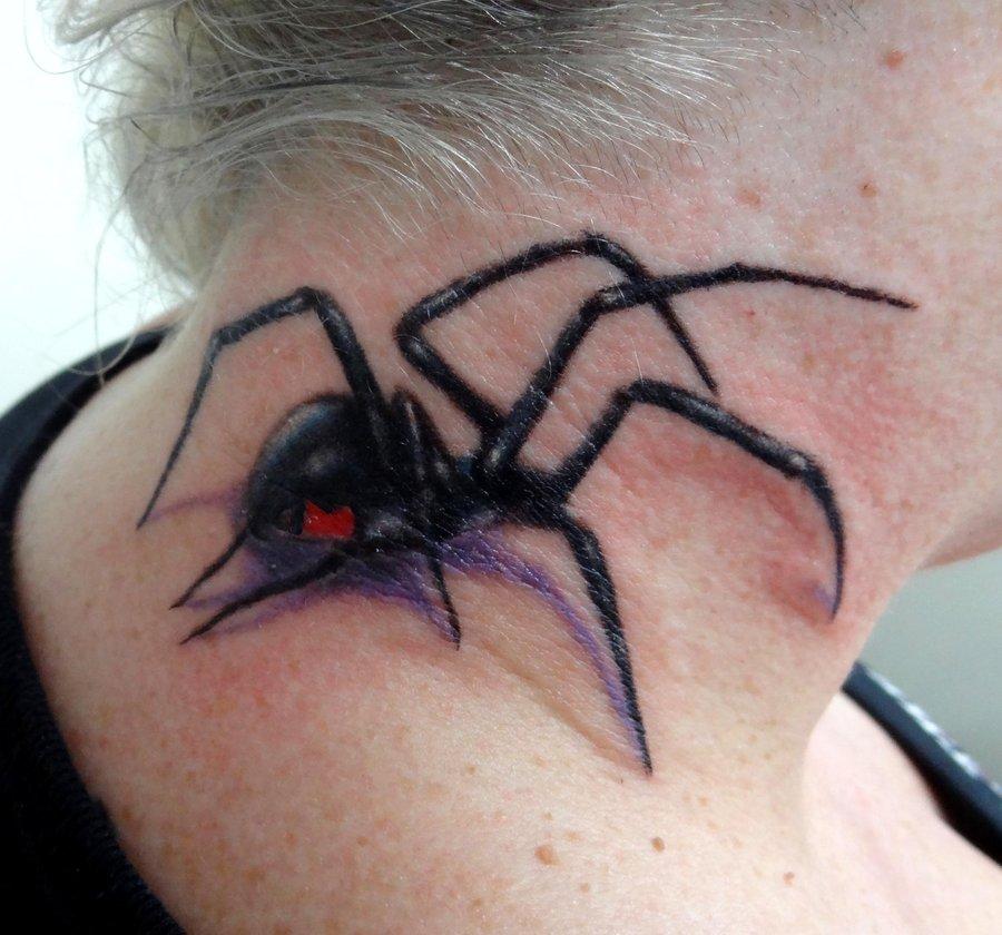 9472abbdf 3D Black Widow Tattoo in the Beck -   TattooMagz › Tattoo Designs ...
