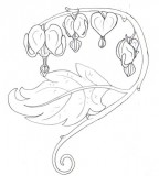 Bleeding Hearts and Flowers Sketch Tattoo Design