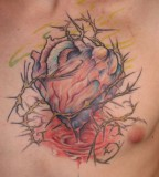 Perfect Bleeding Heart and Flower Tattoo (NSFW)