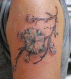 Punks Crappers Bleeding Heart Flower Tattoo for Women