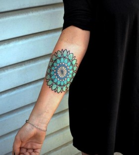 blue mandala tattoo