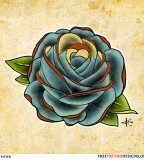 Blue Rose Sketch For Tattoo Design