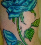 Blue Rose Tattoos Design By Hustler
