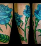 Amazing Blue Rose Tattoo Design Ideas