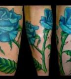 Amazing Blue Rose Tattoo Design Ideas