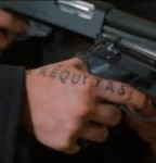 "Lettering On Finger Saying, ""Aequitas"", Which Means Justice"