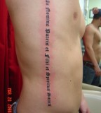 Boondock Saints Tattoo On The Ribs