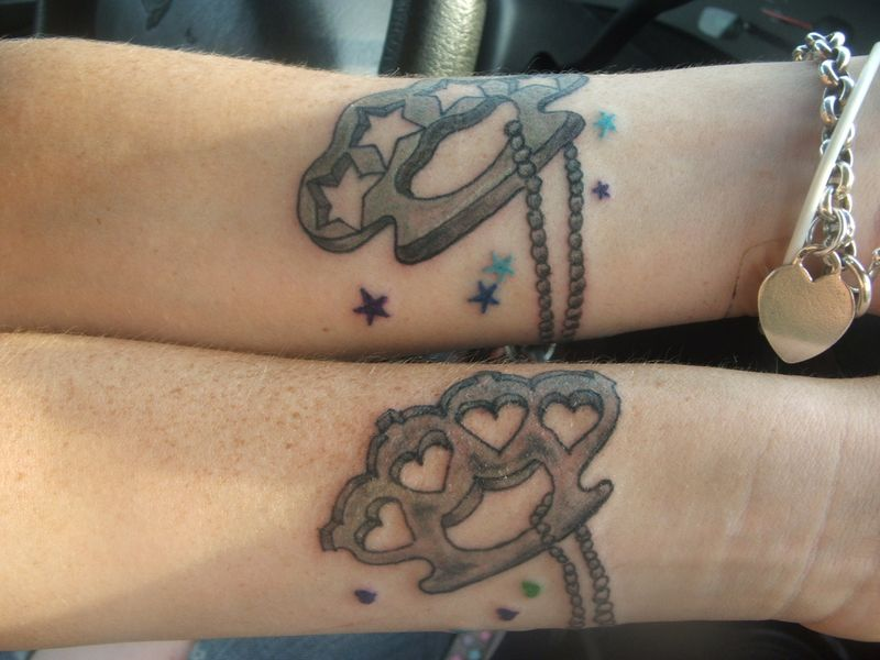 Stars Hearts And Brass Knuckle Tattoo