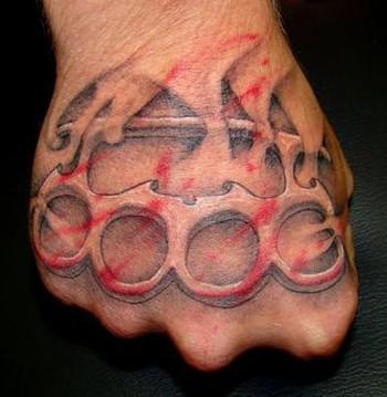 Brass Knuckle Hand Tattoo – Hand Tattoos