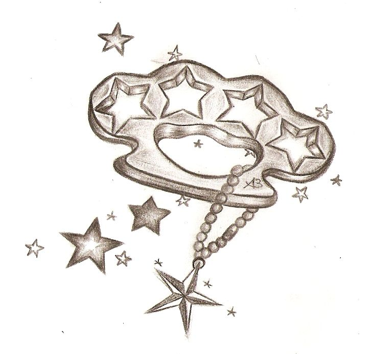 Brass Knuckles and Star Tattoo Ideas