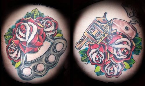 Guns And Knuckles Tattoo