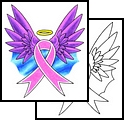 Cool Breast Cancer Symbol Tattoos Designs