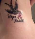 Cute Breast Cancer Symbol Tattoos and Pink Ribbon Tattoo