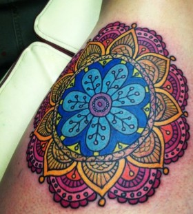 brilliant mandala tattoo