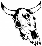 Bull Head Skull Sketches Design
