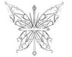 Butterfly Cross Tattoo Sketch by Silvertheblackwolf on Deviantart