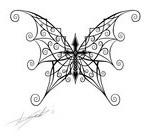 Butterfly Cross Combo Tattoo Skecth by Streetz86 on Deviantart