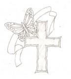 Cross Butterfly Tattoo Skecth by Blkmagick on Deviantart