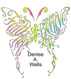 Colorful Butterfly Cross Tattoo Design Skecth by Denise A Wells