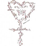 Strength Infinity Symbol Butterfly Cross Tattoo Design by Denise