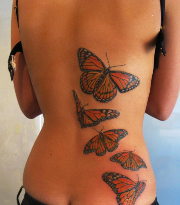 Amazing Butterfly Tattoo Designs for Back Body