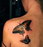 Amazing 3D Butterfly Tattoo Designs