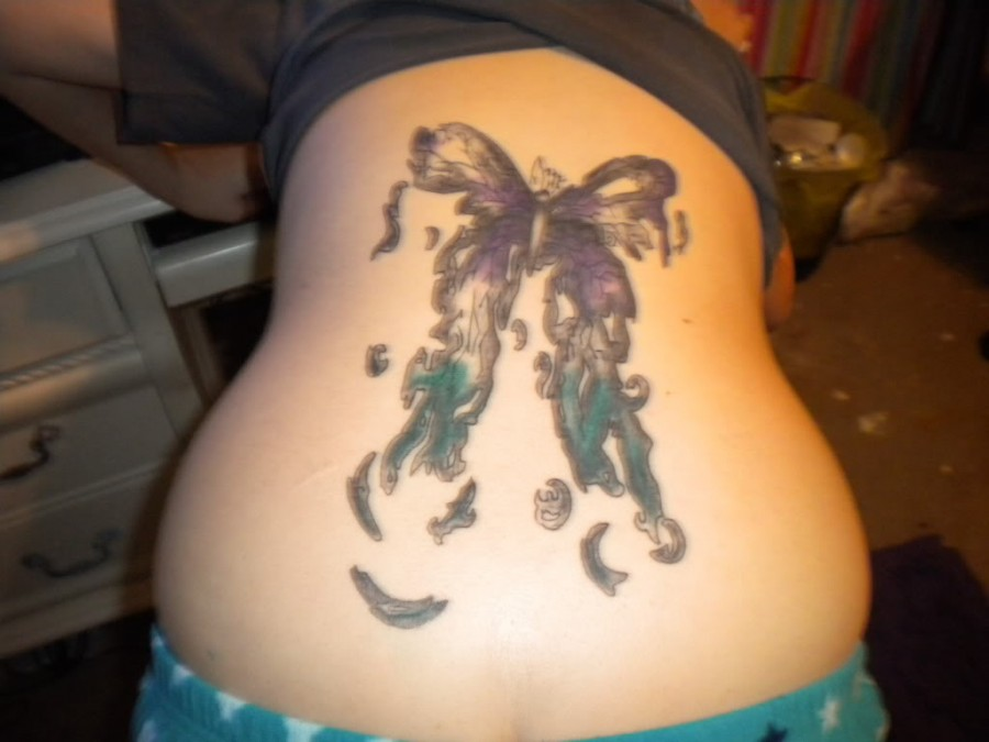 Decaying Butterfly Tattoo Design Idea