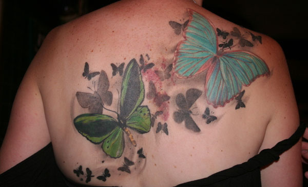 Coloured Butterfly Tattoos Design You Trust Design