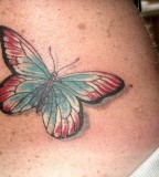 Back Butterfly Tattoo Design For Girls