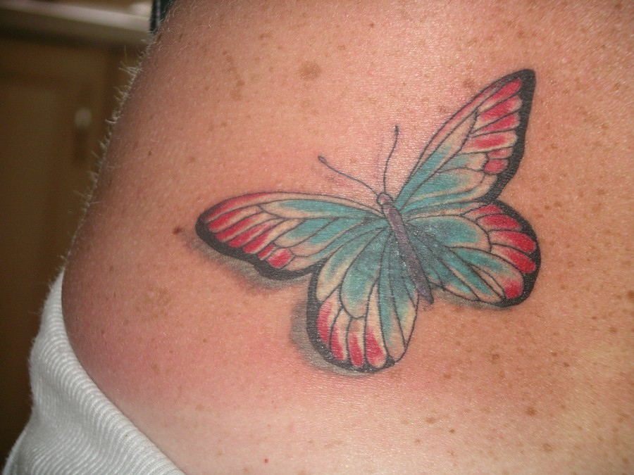 Back Butterfly Tattoos For Women Small Lower Tattoo