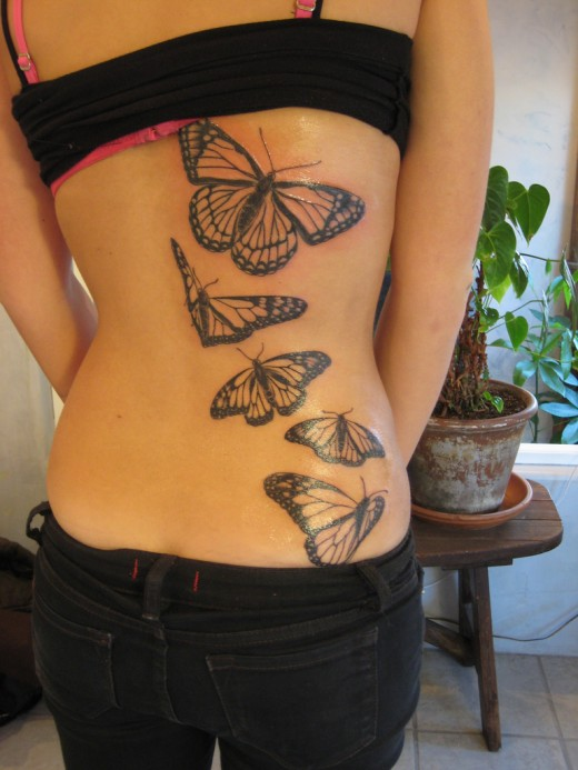 Simple Butterfly Tattoo Images And Designs For Girls