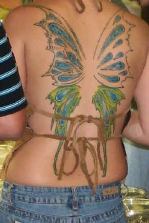 Celebrity Image Gallery Butterfly Tattoo Designs Lower Back