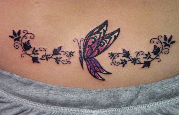 Sexy Lower Back Tattoos Design for Girls