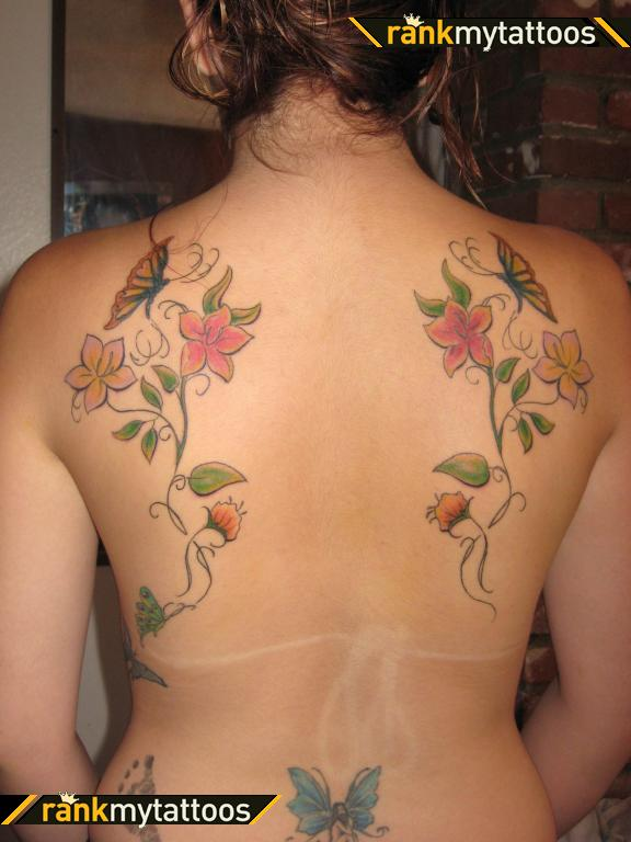 Exotic My Back Butterfly Tattoo