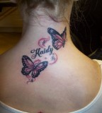 Butterfly Tattoos Back Of Neck Designs For Girls