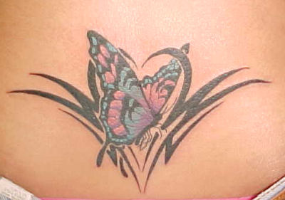 Awesome Tribal Butterfly Tattoos Designs